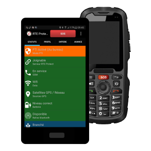 dispositif d'alerte pour travailleur isolé dati pti smartphone durci appli pti chut choc
